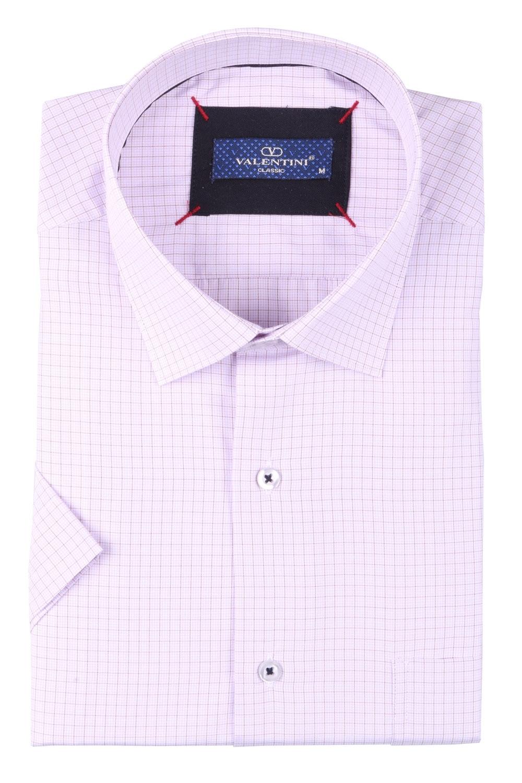 Мужская классическая рубашка в клетку, короткий рукав  (Арт. T 3384К)