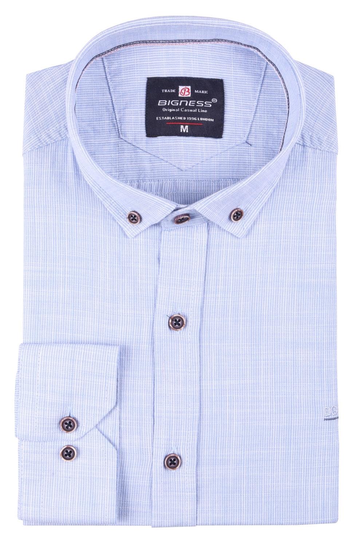 Мужская однотонная рубашка, длинный рукав  (Арт. T 3392)