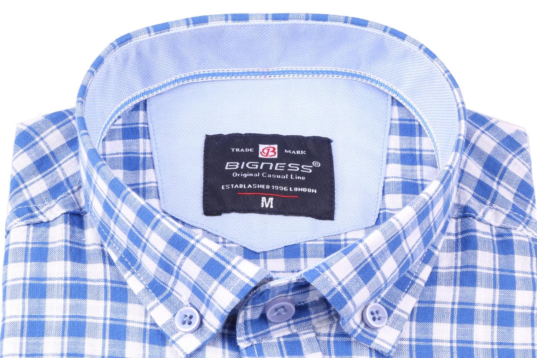 Стильная мужская рубашка в клетку, длинный рукав  (Арт. T 3401)