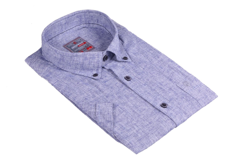 Мужская однотонная рубашка, короткий рукав  (Арт. T 3415К)