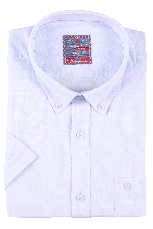 Мужская однотонная рубашка, короткий рукав  (Арт. T 3419К)