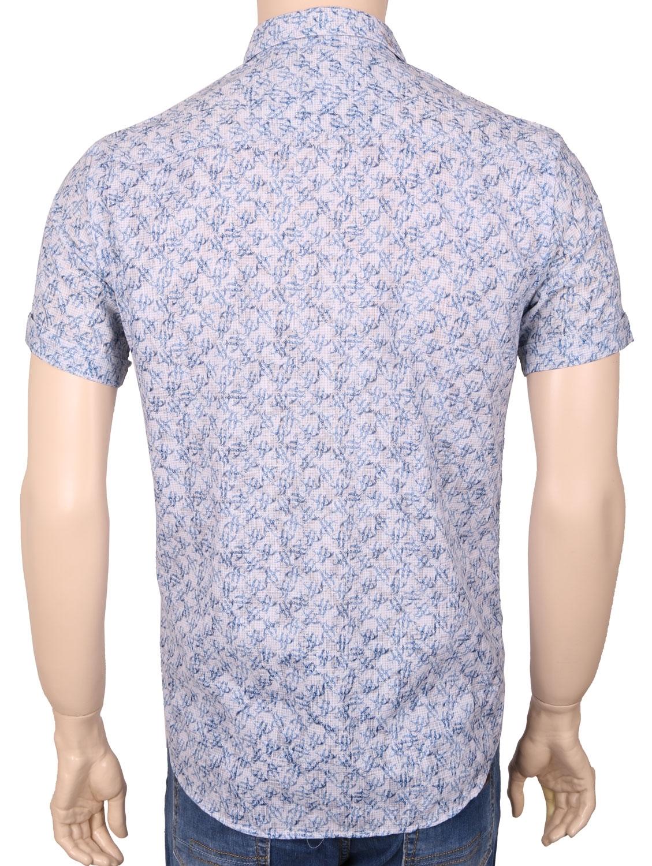 Мужская стильная рубашка в рисунок, короткий рукав  (Арт. T 3356К)