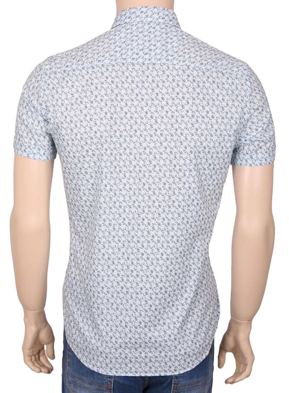 Мужская стильная рубашка в рисунок, короткий рукав  (Арт. T 3359К)