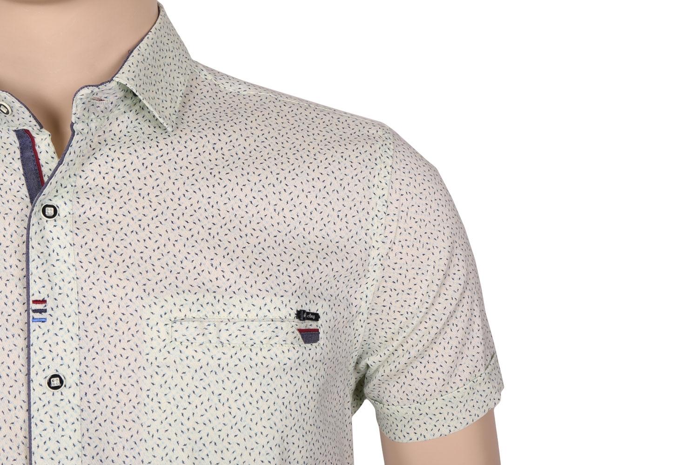 Мужская стильная рубашка в рисунок, короткий рукав  (Арт. T 3366К)