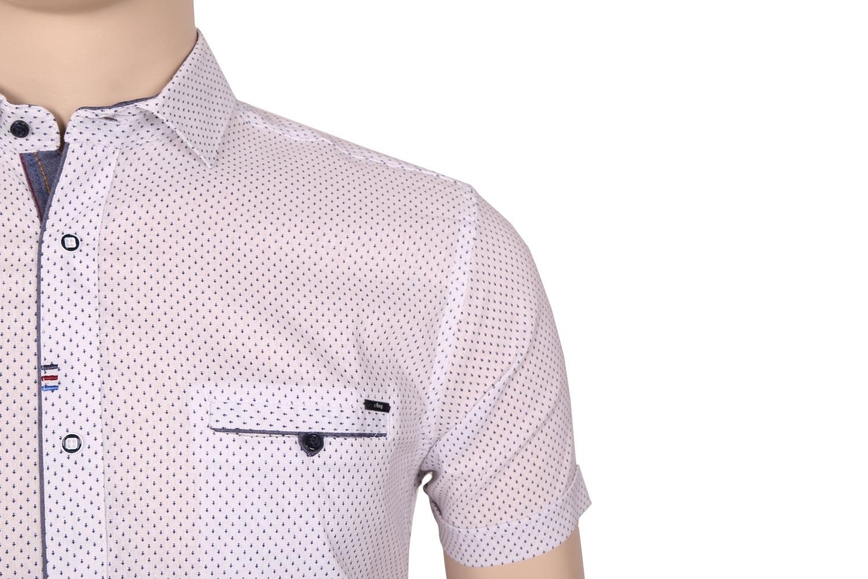 Мужская стильная рубашка в рисунок, короткий рукав  (Арт. T 3371К)