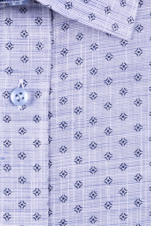 Мужская классическая рубашка в рисунок, короткий рукав  (Арт. T 3456)