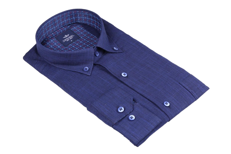 Мужская однотонная классическая рубашка, длинный рукав  (Арт. T 3459)