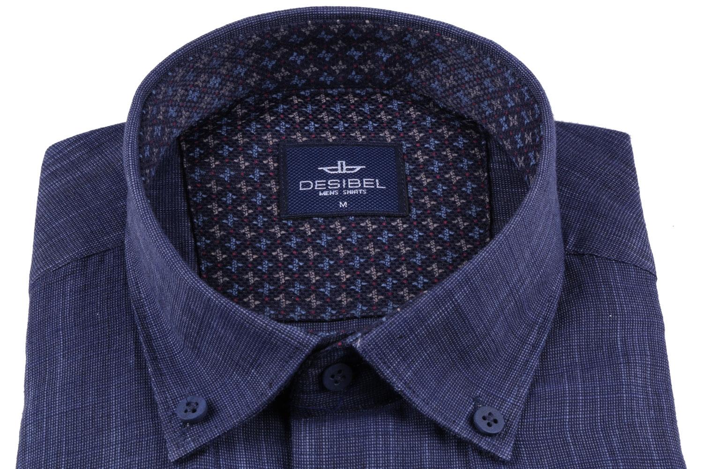 Мужская однотонная классическая рубашка, длинный рукав  (Арт. T 3462)
