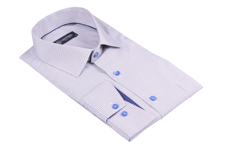 Мужская классическая рубашка в клетку, длинный рукав  (Арт. T 3465)
