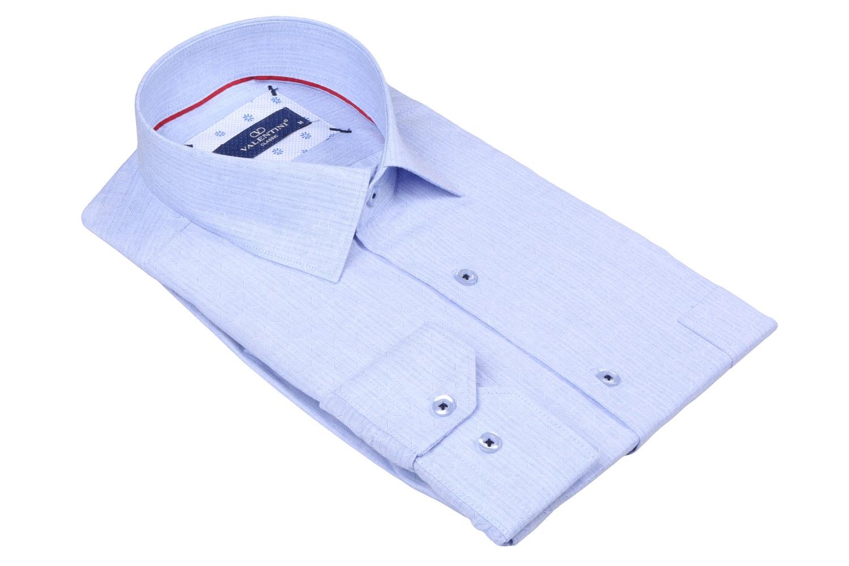 Классическая мужская однотонная рубашка, длинный рукав  (Арт. T 3490)