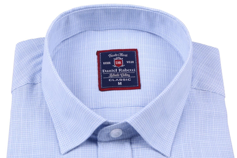Классическая мужская рубашка в мелкую клетку, короткий рукав  (Арт. T 3500K)