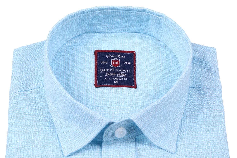 Классическая мужская рубашка в мелкую клетку, короткий рукав  (Арт. T 3503)