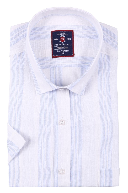 Классическая мужская рубашка в полоску, короткий рукав  (Арт. T 3507)