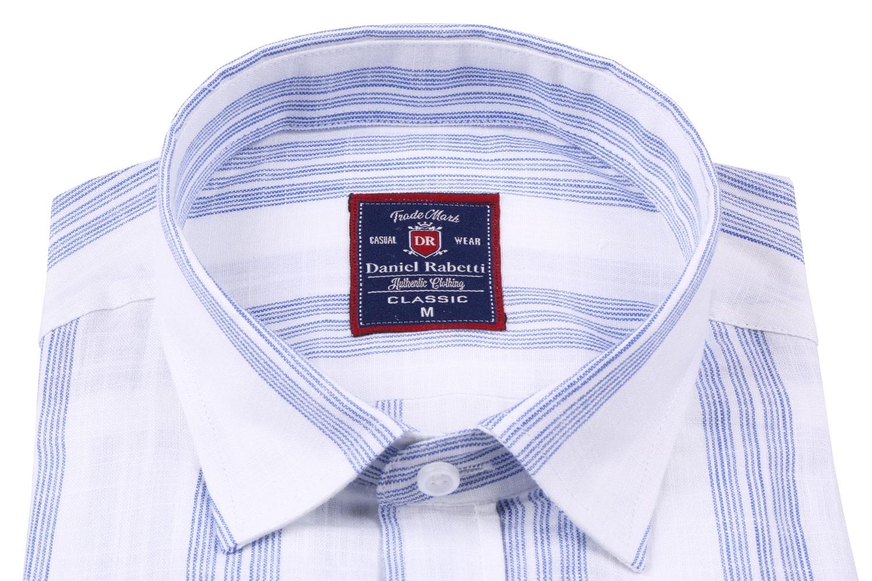 Классическая мужская рубашка в полоску, короткий рукав  (Арт. T 3509)