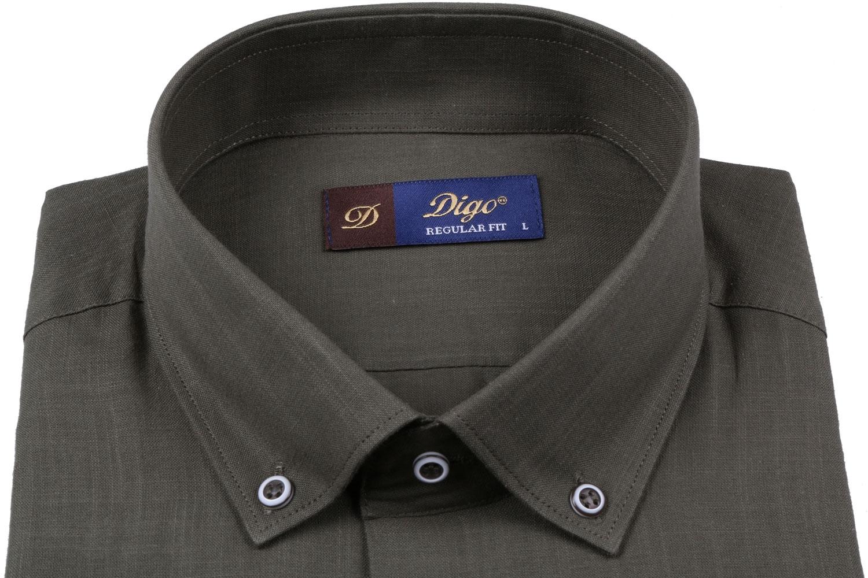 Классическая однотонная мужская рубашка, длинный рукав  (Арт. T 3516)