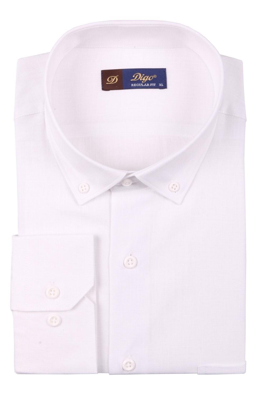 Классическая однотонная мужская рубашка, длинный рукав  (Арт. T 3513)