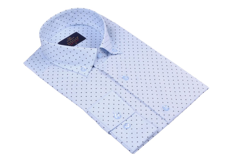 Стильная мужская рубашка в рисунок, длинный рукав  (Арт. T 3519)