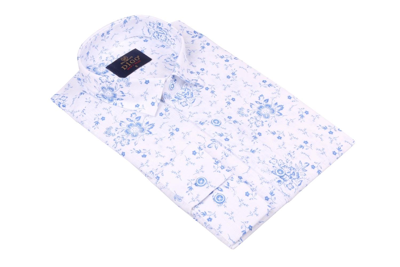 Стильная мужская рубашка в рисунок, длинный рукав  (Арт. T 3522)