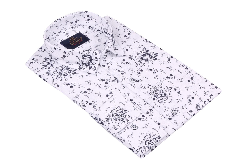 Стильная мужская рубашка в рисунок, длинный рукав  (Арт. T 3524)