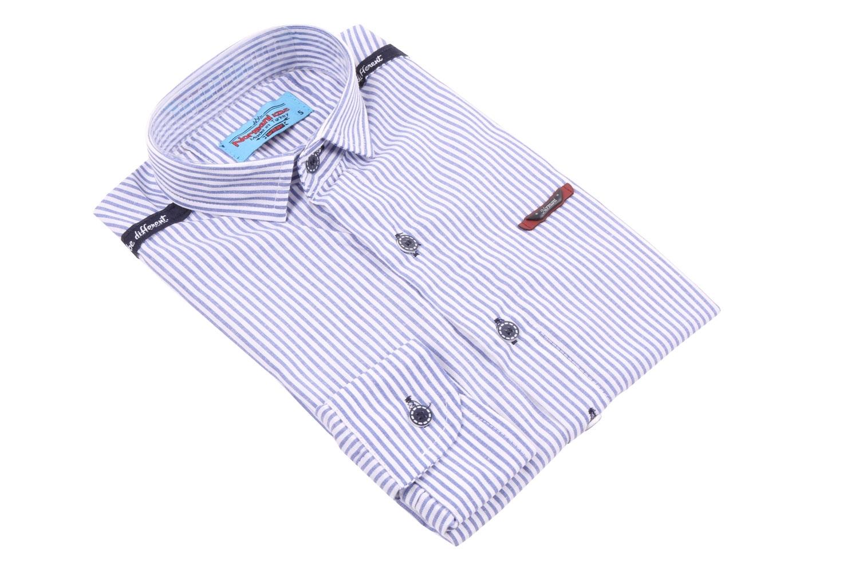Детская рубашка в полоску, длинный рукав (Арт. TB 3576)