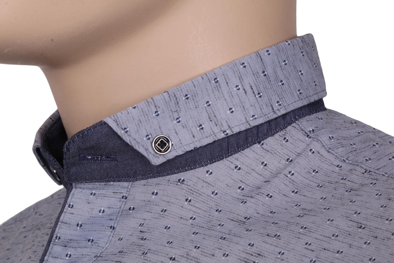 Cтильная мужская рубашка в мелкий рисунок, длинный рукав  (Арт. T 3536)