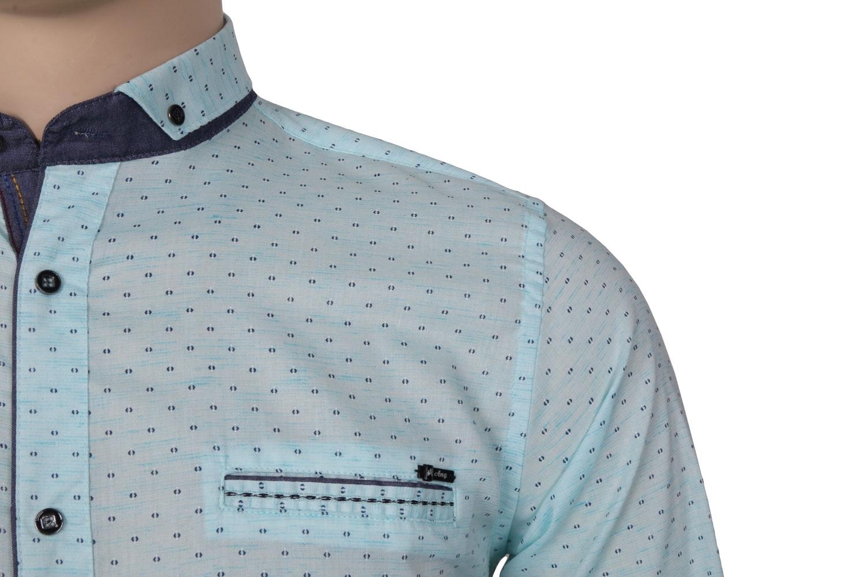 Cтильная мужская рубашка в мелкий рисунок, длинный рукав  (Арт. T 3537)