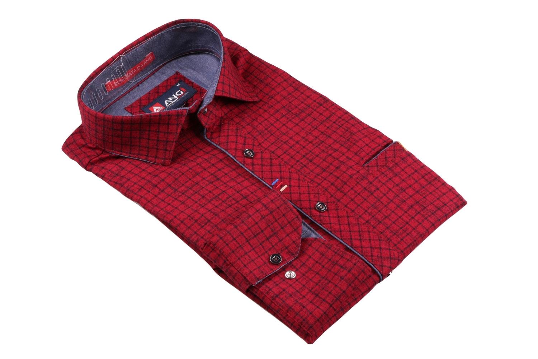 Cтильная мужская рубашка, длинный рукав  (Арт. T 3554)
