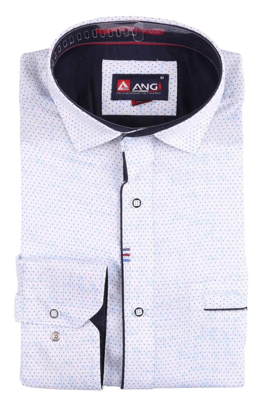Cтильная мужская рубашка в рисунок, длинный рукав  (Арт. T 3556)