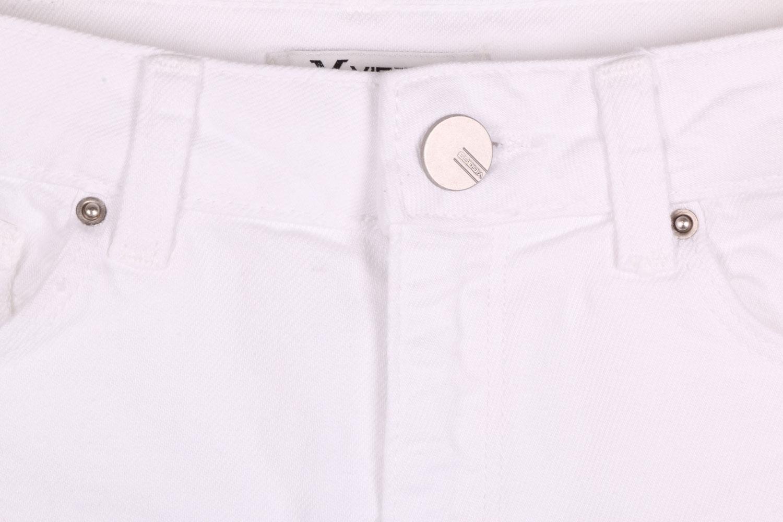 Женские джинсовые белые шорты (Арт. W SH 3604)