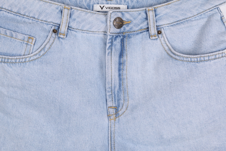 Женские джинсовые голубые шорты (Арт. W SH 3605)