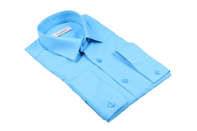 Cтильная мужская однотонная рубашка цвета, длинный рукав  (Арт. T 3614)