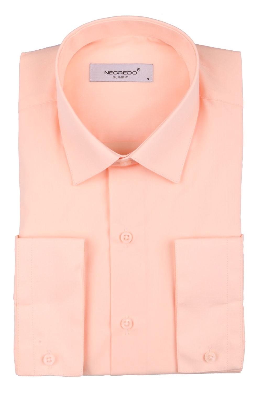 Cтильная мужская однотонная рубашка, длинный рукав  (Арт. T 3615)