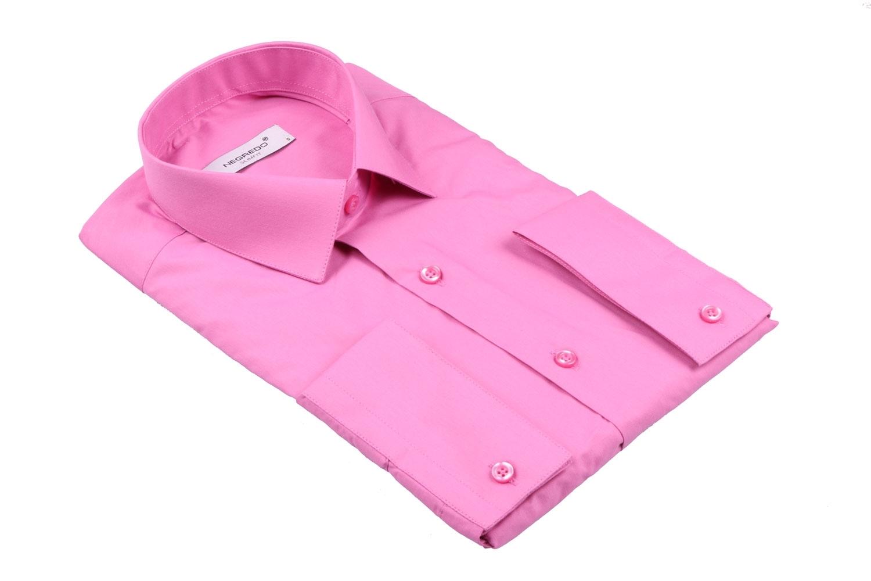 Cтильная мужская однотонная рубашка, длинный рукав  (Арт. T 3618)