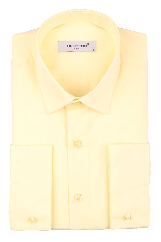 Cтильная мужская однотонная рубашка, длинный рукав  (Арт. T 3623)
