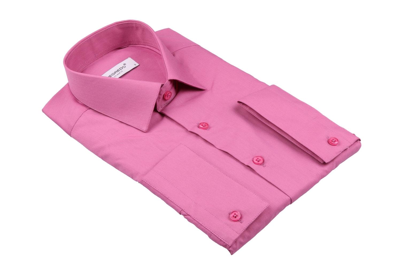 Cтильная мужская однотонная рубашка, длинный рукав  (Арт. T 3626)