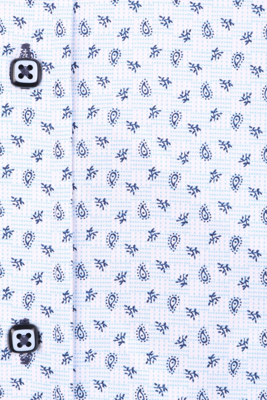 Cтильная мужская рубашка в рисунок, длинный рукав  (Арт. T 3638)