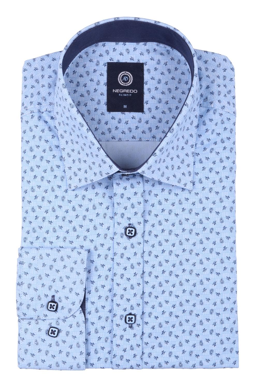 Cтильная мужская рубашка в рисунок, длинный рукав  (Арт. T 3640)
