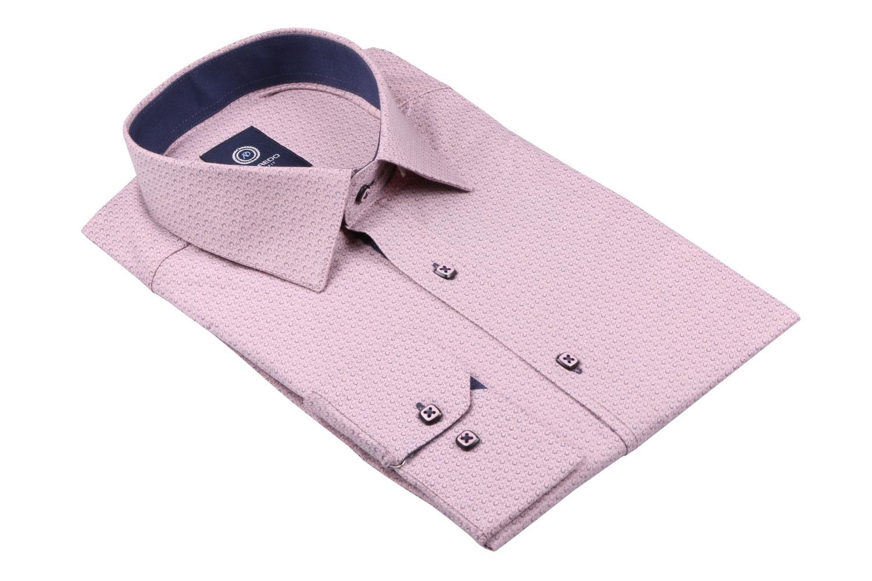 Cтильная мужская рубашка в рисунок, длинный рукав  (Арт. T 3643)