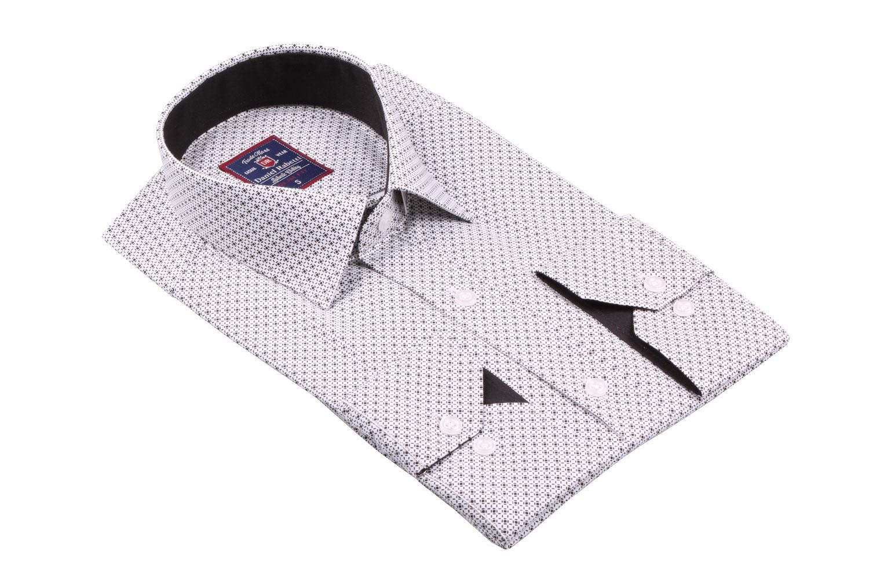 Cтильная мужская рубашка в рисунок, длинный рукав  (Арт. T 3656)