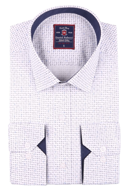 Cтильная мужская рубашка в рисунок, длинный рукав  (Арт. T 3666)
