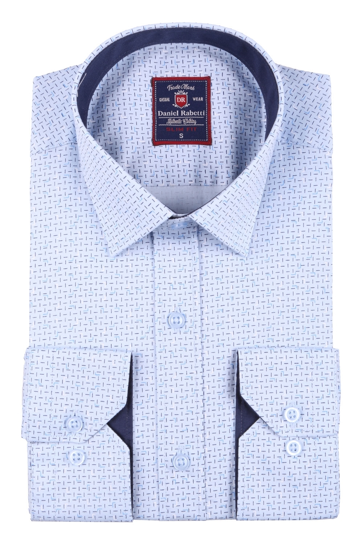 Cтильная мужская рубашка в рисунок, длинный рукав  (Арт. T 3668)
