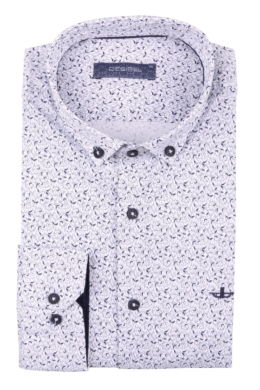 Cтильная мужская рубашка в рисунок, длинный рукав  (Арт. T 3686)