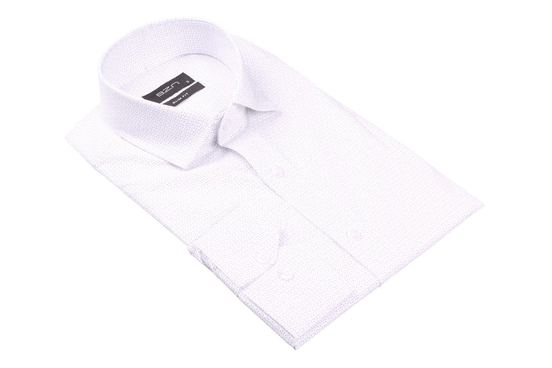 Cтильная мужская рубашка в рисунок, длинный рукав  (Арт. T 3687)