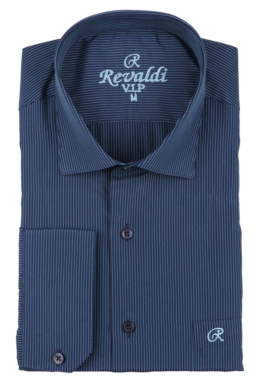 Классическая мужская рубашка в полоску, длинный рукав  (Арт. T 3700)