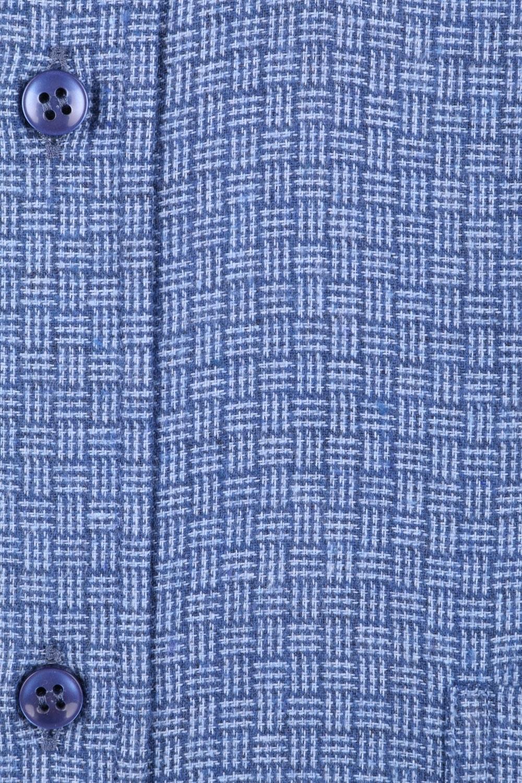 Классическая кашемировая рубашка в клетку, длинный рукав  (Арт. T 3705)