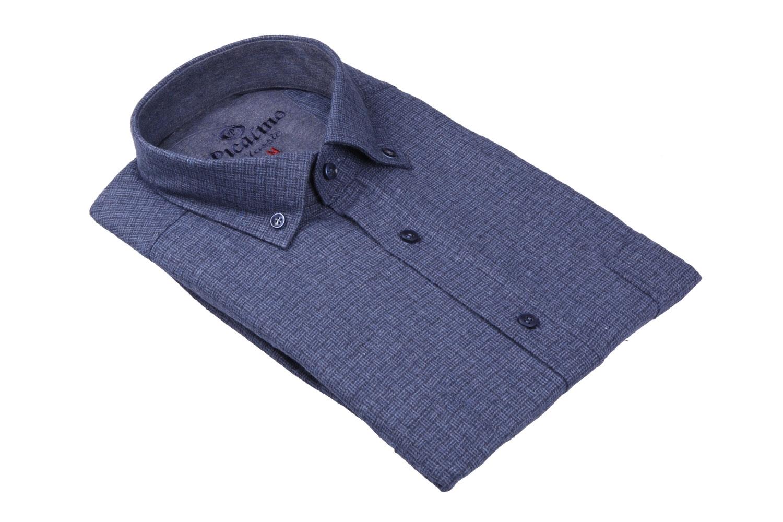 Классическая кашемировая рубашка в клетку, длинный рукав  (Арт. T 3706)