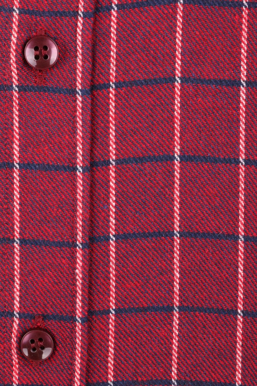 Классическая кашемировая рубашка в клетку, длинный рукав  (Арт. T 3707)
