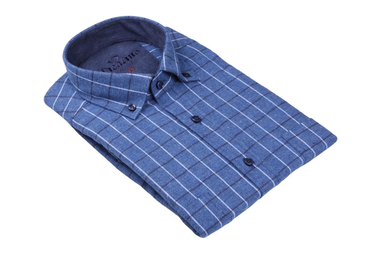 Классическая кашемировая рубашка в клетку, длинный рукав  (Арт. T 3708)