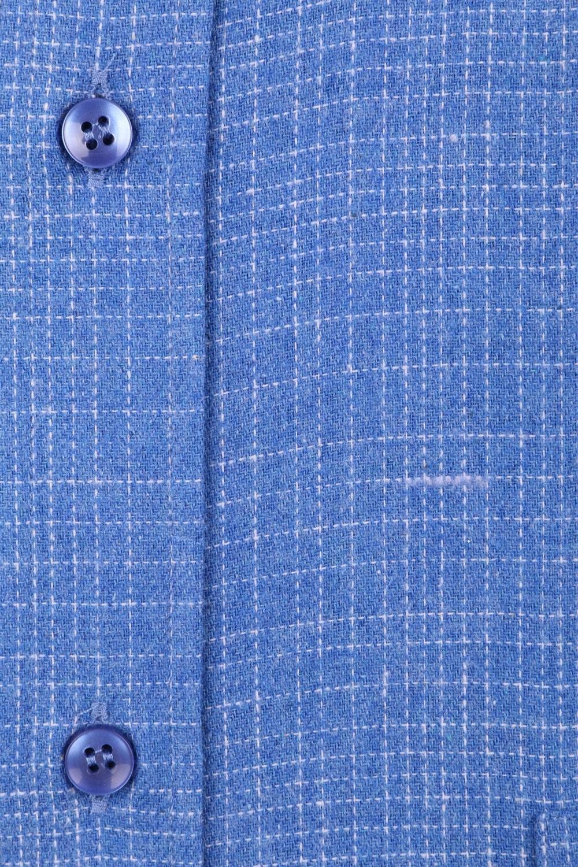 Классическая кашемировая рубашка в клетку, длинный рукав  (Арт. T 3711)