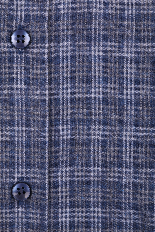 Классическая кашемировая рубашка в клетку, длинный рукав  (Арт. T 3713)